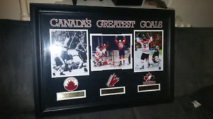Canada's greatest goals framed print!
