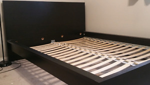 Queen Size Black Malm Bed Frame $180