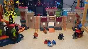 Toy Castle with sorcerer hide out with soldiers