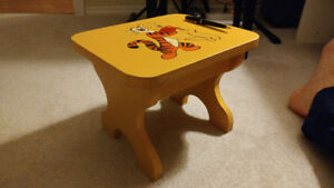 Kids wood stool hand painted disney