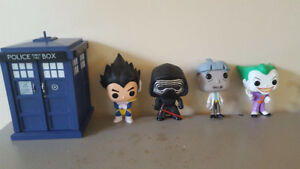 Large variety of Pop figures.
