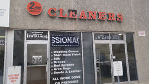 Great Location! Ideal Dry Cleaning Plant Business For Sale!!