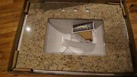 comptoir de granite et lavabo