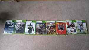 Various Xbox 360 Video Games