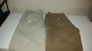 Mens Cargo Pants for sale - 2 pairs , 36w X 34L