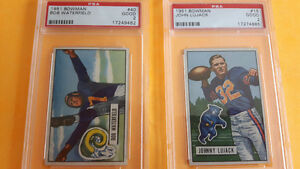 Pair of 1951 BOWMAN PSA GRADED NFL FOOTBALL CARDS