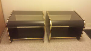 Glass Black/brass End Tables (SOLD) London Ontario image 4