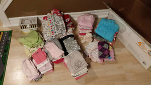 Big box of baby girl clothes