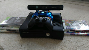 Xbox 360 + Kinect and Games, Excellent Condition