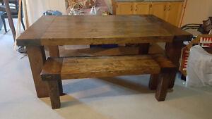 Large custom made dining room table