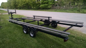 2008 Yacth Culb 24ft Pontoon Trailer with brakes $2,750