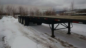 Flat Bed trailer - 48' Tridem