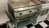 Used Garland flat grill and Electric deep fryer for sale