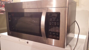 LG over the range microwave stainless steel