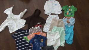3 to 6 month clothing lot