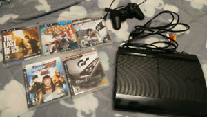 PlayStation 3 PS3 SuperSlim with 5 Games Excellent Shape