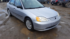 2001 Honda civic 4 door 5 spd runs good A/C