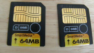 64 MB OLYMPUS SMART MEDIA MEMORY CARDS WITH CASES