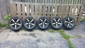 255/40 R17 tires on rims for sale