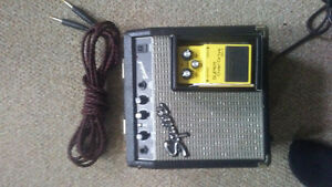 Fender squire sidekick amp and distortion pedal n cord