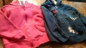 Zip Up Hoodies- Size 3 & 4