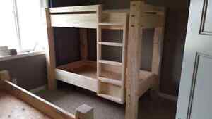Hand crafted timber bunk beds