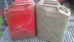 antique U.S. military gas cans