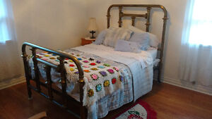 Antique Brass double bed early 1900s