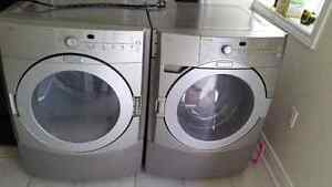 Kitchen aid front load stackable washer and dryer  3yrs old