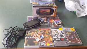 Psp hand held. 9 games. Original box