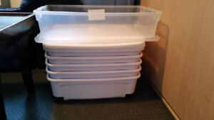 PRICE REDUCED: Low profile storage totes/containers