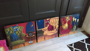 3 toiles, reproduction Rafuse