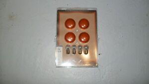 Lenses & bulbs for bullet signal light .
