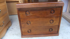 gibbard solid walnut 3 drawer cabinet / night table