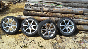 18 INCH RIMS WITH GOOD SET OF WINTER TIRES