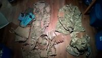 combat arms m4 and vest, strap and camo