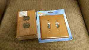 Oak  electrical outlet covers