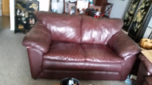 FREE. Dark Brown Leather Love Seat.