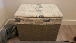 2 sitting and storage boxes - moving sale