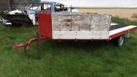 8x12 drive on and drive off sled or quad trailer