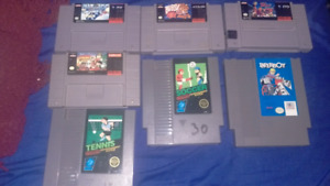 Bunch of games|nes,snes|prices listed down