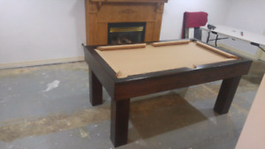 POOL TABLES MADE IN CANADA + NO USA  MONEY  EXCANGE OR TARRIFS