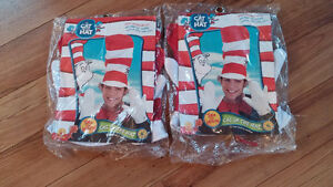 CAT IN THE HAT Hat Glove and Tie Sets Halloween Dress Up, 2 sets