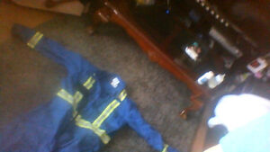 Large fire/water resistant instrumentation coveralls