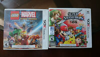 Looking to trade Lego marvel super heroes & Super Smash Bros 3DS