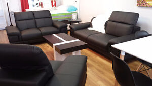 Hometown Furniture --- leather style modern sofa set