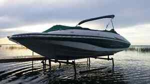CUSTOM NEW CANTILEVER PONTOON, BOAT AND WAKEBOARD BOAT LIFTS Edmonton Edmonton Area image 1