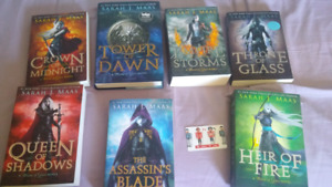 The throne of glass series Novels like new