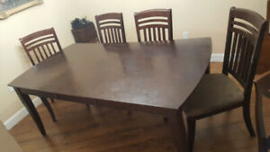 table and 8 wood chairs