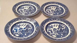Broadhurst Staffordshire Ironstone Blue Willow Bread Plates